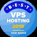 Tildelt selskaper som er på topp 10 i kategorien for beste VPS-hosting.