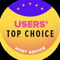 Tildelt til de topp 10 webhosting-selskapene med de høyeste bruker-rangeringene.